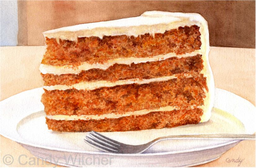 Slice of Carrot Cake by Candy Witcher