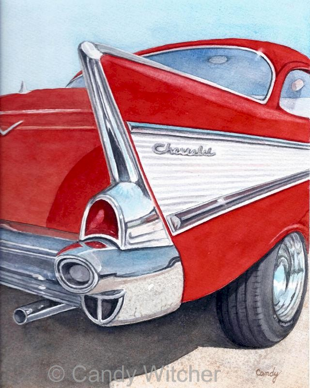 Classic 1957 Chevrolet Tail Fin by Candy Witcher