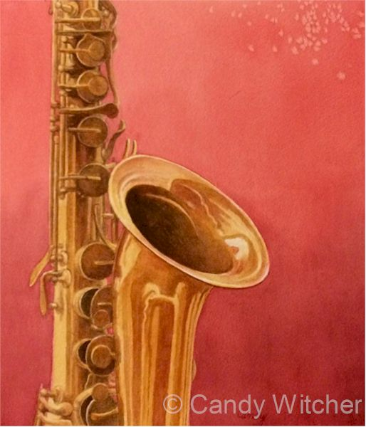 Saxophone by Candy Witcher