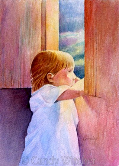 Child at Window by Candy Witcher